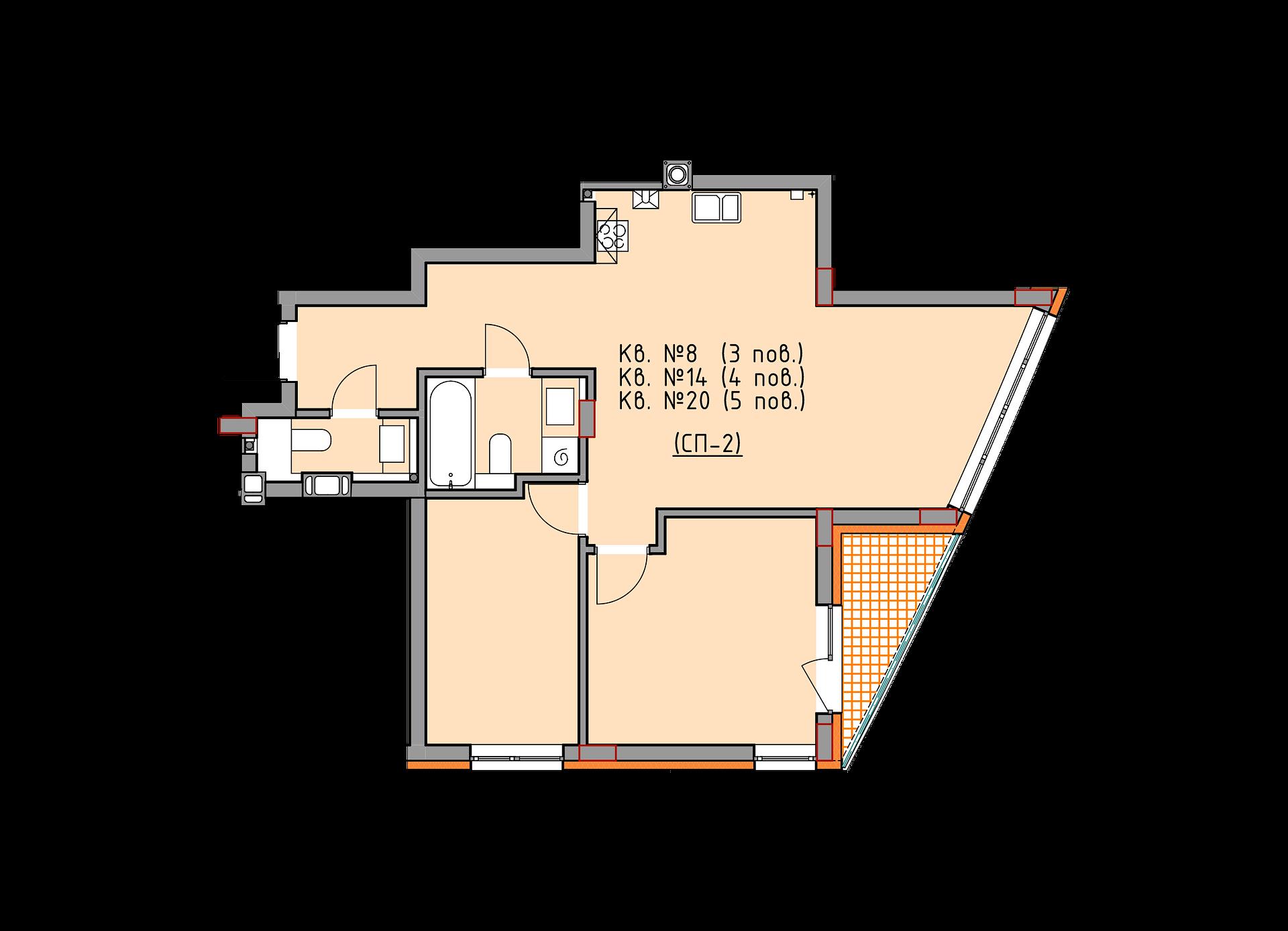 1 секція 3-5 поверх 8-20